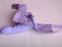 Recenze fialového silikonového strapon dilda